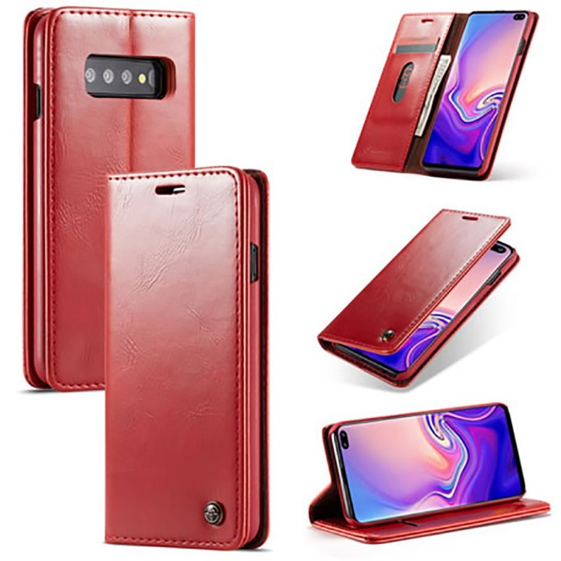 Etui Galaxy S10 Plus Portefeuille rouge - CaseMe