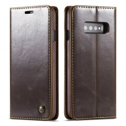Etui Galaxy S10 Plus Portefeuille marron - CaseMe