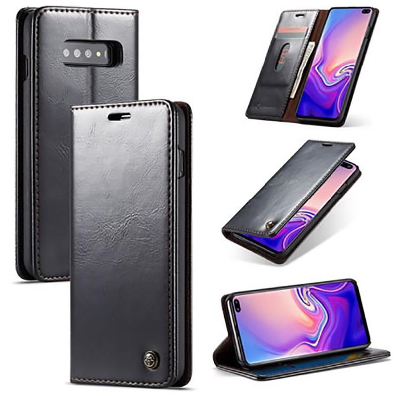 Etui Galaxy S10 Plus Portefeuille noir - CaseMe