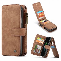 Etui iPhone Xr Porte-cartes et Porte-monnaie Marron - CaseMe