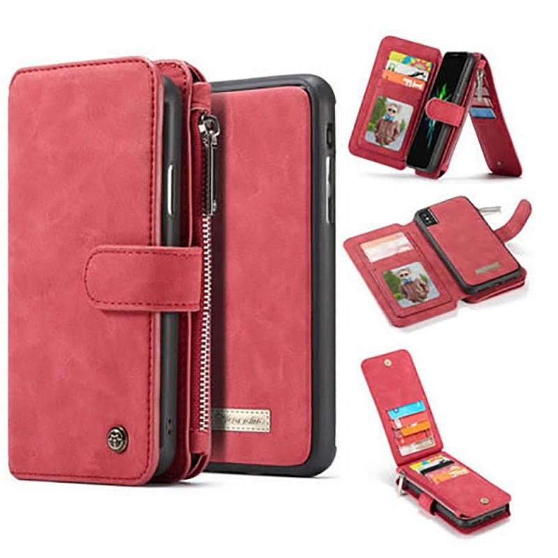 Etui iPhone Xs Max Porte-cartes et Porte-monnaie Rouge - CaseMe