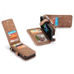 Etui iPhone Xs Max Porte-cartes et Porte-monnaie Marron - CaseMe