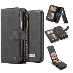 Etui iPhone Xs Max Porte-cartes et Porte-monnaie Noir - CaseMe