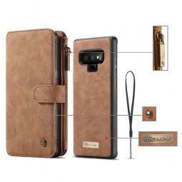 Etui Galaxy Note 9 Porte-cartes et Porte-monnaie Marron - CaseMe