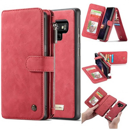 Etui Galaxy Note 9 Porte-cartes et Porte-monnaie Rouge - CaseMe