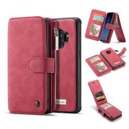 Etui Galaxy S9 Porte-cartes et Porte-monnaie Rouge - CaseMe