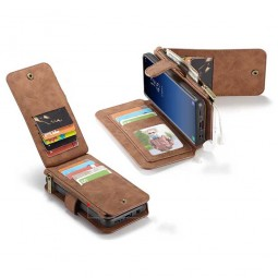 Etui Galaxy S9 Porte-cartes et Porte-monnaie Marron - CaseMe