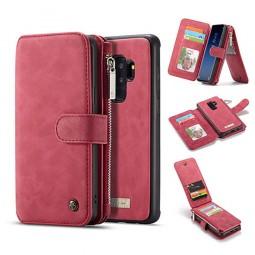 Etui Galaxy S9 Plus Porte-cartes et Porte-monnaie Rouge - CaseMe