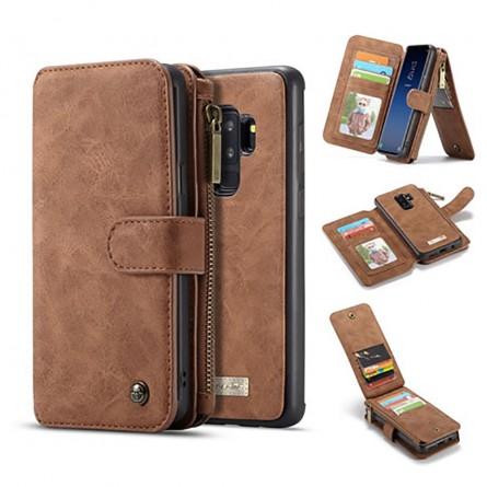 Etui Galaxy S9 Plus Porte-cartes et Porte-monnaie Marron - CaseMe