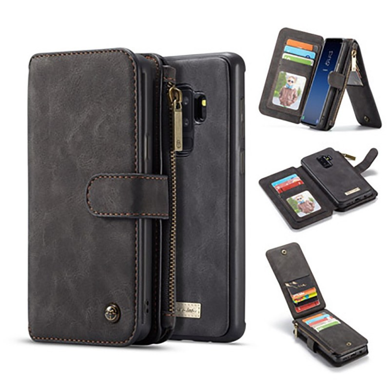 Etui Galaxy S9 Plus Porte-cartes et Porte-monnaie Noir - CaseMe
