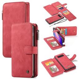Etui Galaxy S10 Porte-cartes et Porte-monnaie Rouge - CaseMe