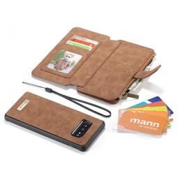 Etui Galaxy S10e Porte-cartes et Porte-monnaie Marron - CaseMe