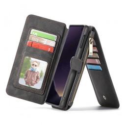 Etui Galaxy S10e Porte-cartes et Porte-monnaie Noir - CaseMe