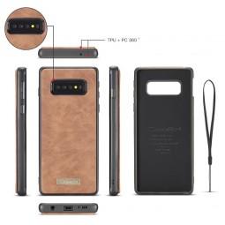 Etui Galaxy S10 Plus Porte-cartes et Porte-monnaie Marron - CaseMe