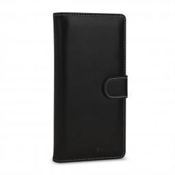 Etui Galaxy Note 9 portefeuille Talis en cuir véritable Noir Nappa  - StilGut