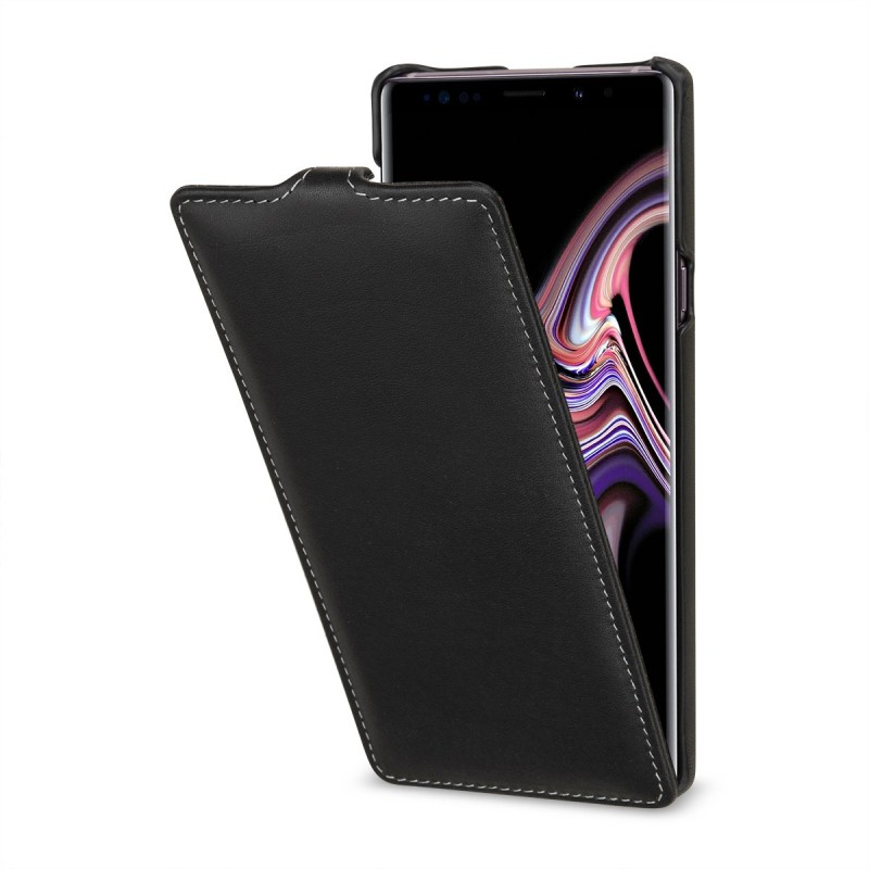 Etui Galaxy Note 9 ultraslim en cuir véritable noir Nappa - StilGut