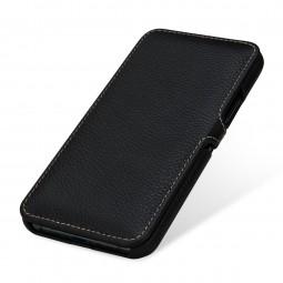 Etui compatible iPhone 11 Pro Book Type avec clip en cuir véritable noir - StilGut