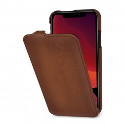 Etui compatible iPhone 11 UltraSlim en cuir véritable marron- StilGut