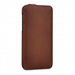 Etui compatible iPhone 11 Pro UltraSlim en cuir véritable marron - StilGut