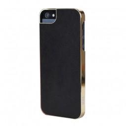 Coque ultra-mince noire et dorée Sena iPhone 5 / 5S