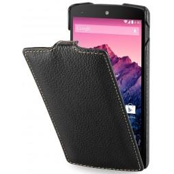 StilGut étui UltraSlim en cuir véritable noir pour Google Nexus 5
